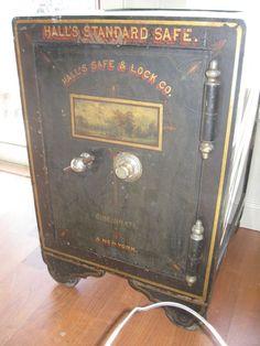 Antique Iron Safe Hall S Safe Company 1906 Ebay Just