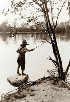 Child Fishing, 1920