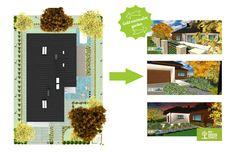 Gold minimalist garden. Make your own project: mygreenspace.pl/en