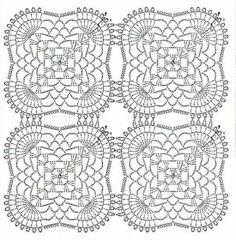 Manteles tejidos a crochet air jordan 1 green colorway - Green Things Crochet Motifs, Crochet Fabric, Crochet Square Patterns, Crochet Blocks, Crochet Diagram, Doily Patterns, Crochet Chart, Crochet Doilies, Crochet Stitches