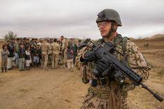 German soldiers in Afghanistan. Photos: Ritchie Sedeyn.