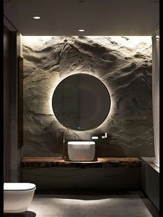 Trendy Bathroom Lighting Over Mirror Modern Luxury Furniture Ideas Modern Bathroom Design, Bathroom Interior Design, Modern Interior Design, Contemporary Interior, Luxury Interior, Contemporary Toilets, Luxury Decor, Interior Ideas, Bad Inspiration