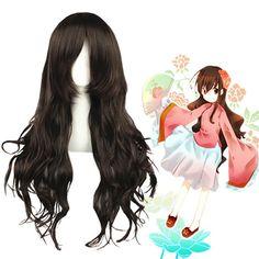 Hetalia: Axis Powers Taiwan Dark Brown Cosplay Wig