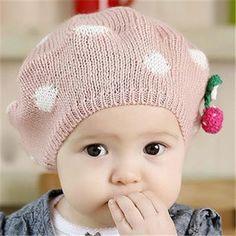 Princess Baby's Warm Beret Knitted Hats, Crochet Hats, Baby Princess, Baby Warmer, Beret, Baby Hats, Cap, Knitting, Knitting Hats