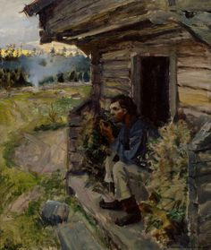 Akseli Gallen-Kallela (1861-1931) Iltarauha / Tranquil eveing 1890 - Finland