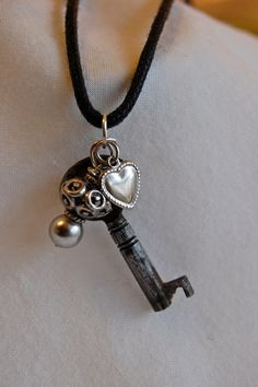 Old Key Necklace by PoppiLinnStudios on Etsy, $17.00