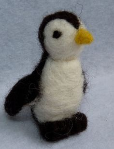 felted penguin by WoodlandFeltCrafts on Etsy, Felt Penguin, Needle Felting, Penguins, Snowman, Disney Characters, Fictional Characters, Snoopy, Etsy, Art