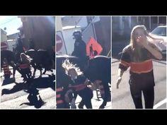 WATCH: BlackLivesMatter Cop Hater Slaps Police Horse Then GETS MAJOR PAYBACK From Horse.... ⋆ US Herald
