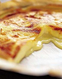 Tarte au fromage coulant