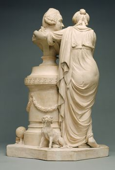 Allegorical Group with a Bust of an Architect -- Unknown maker, possibly Belgian -- France; 1780 - 1800 -- Terracotta -- 67 x 41.8 x 36.5 cm (26 3/8 x 16 7/16 x 14 3/8 in.)