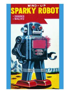 sparky robot poster