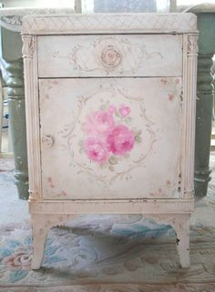 hand painted cabinet. Debbie Coules