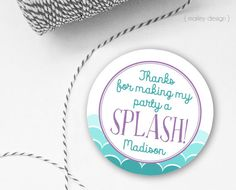 Mermaid Tags Mermaid Party Favor Tags Personalized Printable Tags Girls Birthday Mermaid Gift Tags Mermaid Party Tag Under the Sea Thank You