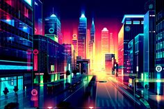 Cities and Lights – Illustrations by Romain Trystram | HeyDesign
