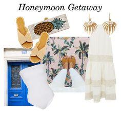"""HONEYMOON GETAWAY"" by modaoperandi ❤ liked on Polyvore featuring Houghton…"
