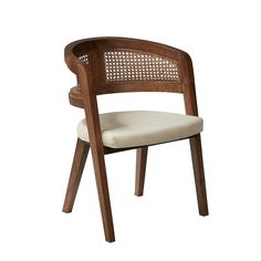 Overall Size: 30.5'' H x 23'' W x 21.5'' D Weight (lbs): 18.96 Material: Plantation Grown Acacia Wood Finish: Porto Natural Finish SKU: FUC0063  Embracing the curvatures of nature our nest chair in plantation grown hardwood is made with hand knotted cane and natural linen cushion.