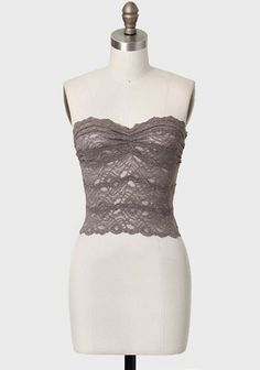 Belle Joli Lace Bandeau In Taupe $24.99 at Ruche