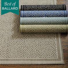 Ballard Designs. Marina Indoor/Outdoor Rug. $14-$209. Love these as bath mats. $14 for 2x3.