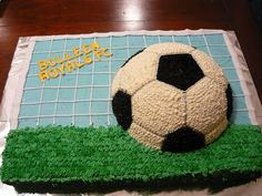 Football cake - for all your cake decorating supplies, please visit craftcompany.co.uk cake by Emma Ds Cakes
