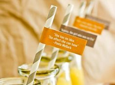 Straws with hunger games quotes this is so simple and cute
