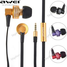 Awei ES900i 3.5mm Stereo In-ear Earphones Earbuds Headphones Earpieces with Microphone for iPad iPhone iPod CHS-81586