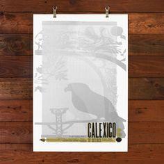 Calexico Poster No. 2 by Hammerpress #art #poster #gigposter #print #graphic #screenprint #artprint #hammerpress