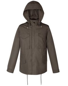 Sandro M-65 KHAKI COAT at Sandro US