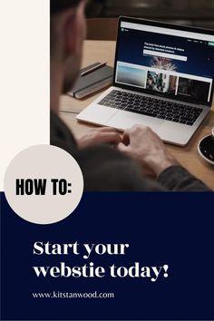 Start Your Website Today in less than 30 minutes! Social Media Tips, Social Media Marketing, Digital Marketing, Marketing Strategies, Content Marketing, Make Money Blogging, Make Money Online, How To Make Money, Business Tips