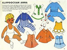 klippdockor :: paperdolls from a 1969 newspaper (click image to enlarge + print) yesterday, was my daughter's nursery school carnival. Vintage Paper Dolls, Antique Dolls, School Carnival, All Paper, Retro Toys, Paper Toys, Art Pages, Free Paper, Doll Patterns