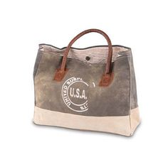 Mini USA Stamp - Reclaimed Canvas Handbag