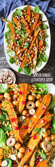 Salad Recipe: Spiced Carrot & Chickpea Salad #vegan #glutenfree #recipes #healthy #plantbased #whatveganseat #salad