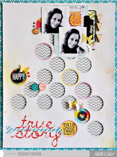 True Story by Sasha at @Studio Calico ~ Made with Sock Hop Scrapbook Kit (Nov 2012)