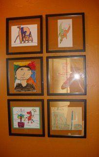Framing Ideas for Kid Art