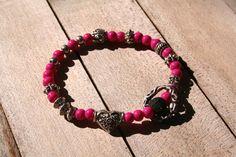 fun handmade bracelet with PINK beads and by littlethingsbyMoni, $13.00  https://www.etsy.com/shop/littlethingsbyMoni