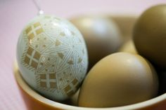 Only two left of these unusual Christmas ornaments made from a real pheasant egg shell ---- pysanky, Etched Pheasant Egg, Batik, Christmas Ornament, Decorated Egg, , Christmas RoseCharity