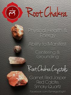 Root Chakra Crystals - loved & pinned by www.omved.com