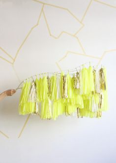 Tassel Branch, Limon.  Check out our new installation at Crewcuts, 50 Hudson Street NYC.  Photo by CONFETTISYSTEM