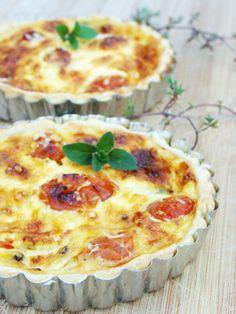 quiche de tomates y albahaca