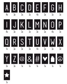 Tekstbord | Textboard | 29x21,5 cm | 88 cards | Order at www.vanmariel.nl | € 27,95