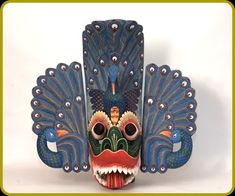 """""""Mayura Raksha"""" (Peacock Devil) Mask"""