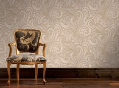 Saville Beige Wallpaper by Graham and Brown