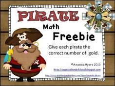 make this game using the pirate invitations.no ink. This is a sample activity from the full Pirate Math Work Station unit. This activity includes the numbers 1 to The full activity includes the. Preschool Pirate Theme, Pirate Activities, Preschool Math, Math Classroom, Kindergarten Activities, Classroom Themes, Kindergarten Freebies, School Themes, School Ideas