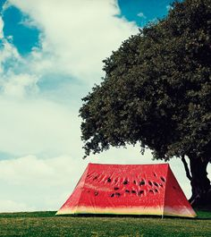 Want to be here right now: watermelon style tent fun outdoor camping. Buy on www.gallantandjones.com