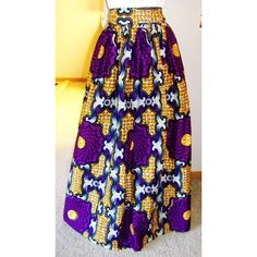 Shop for african maxi skirt on Etsy, the place to express your creativity through the buying and selling of handmade and vintage goods. African Dresses For Women, African Attire, African Wear, African Women, African Print Skirt, African Print Dresses, African Fabric, African Prints, Nigerian Outfits