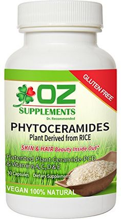 PHYTOCERAMIDES 350mg RICE PLANT DERIVED dr oz best vitamins GLUTEN FREE #1 CERAMIDE Supplements SMOOTH FINE LINES WRINKLES CROWS FEET CLINIC PATENTED REVIEWS SUPERIOR To Lipowheat/SweetPotato FAKE A FACELIFT/BOTOX ANTIAGING MIRACLE Skin Hair Nails Pills SAFE NO SIDE EFFECTS Restores Collagen 100% NATURAL CAPSULES Clear YOUTHFUL DEWY GLOW Hydrate MOISTURE No Dry Red Flaky Itchy SUN DAMAGE Rejuvenate LIFTS DARK CIRCLES Vitamin A C D E 30day 100% Money Back Guarantee LOOK 10 YEARS YOUNGER BUY…