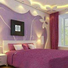 Home Decor: Gypsum Board decor Kid Room Decor, Purple Bedroom Decor, Bedroom Interior, Beautiful Bedroom Decor, Ceiling Design Living Room, Kids Bedroom Designs, Princess Room Decor, Girl Bedroom Decor, Ceiling Design Bedroom
