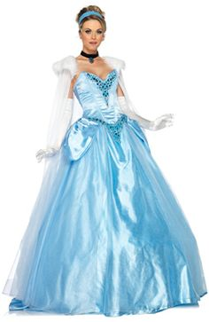 Disney Princess Deluxe Cinderella Adult Costume for Halloween