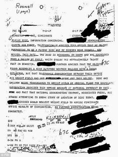 FBI Memo Confirms UFOs in Roswell | The Crypto CrewCould this be another smoking gun in the Roswell Crash? #UFO http://www.thecryptocrew.com/2013/09/fbi-memo-confirms-ufos-in-roswell.html