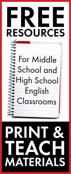Free middle school and high school English class resources. Click HERE for ready-to-go lesson materials!