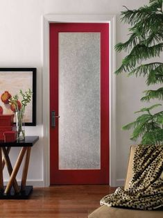 Interior French Doors With Rain Glass